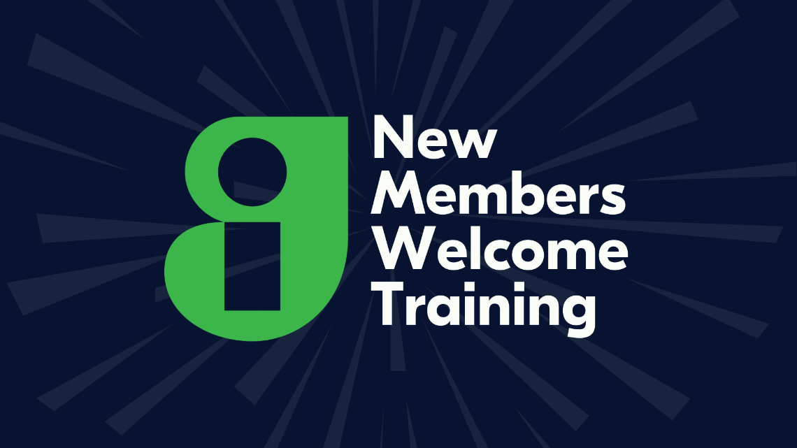New Members Welcome Training